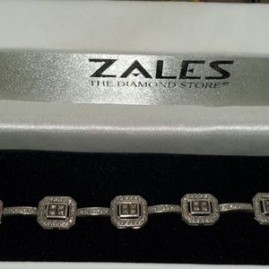 Bracelet white and chocolate diamonds